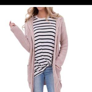 NWOT..Blush pink oversized Cardigan💖